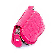 Men Women Cowhide Crocodile Grain Casual Car Key Bag
