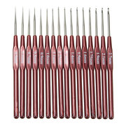 16Pcs Multi Stainless Steel Needles Crochet Hooks Set Knitting Needle Tools Craft Kit