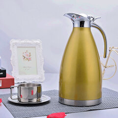 Stainless Steel Vacuum Insulated Pot Double thermos Bottle European Coffee Pot Cold Kettle
