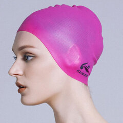 Mens Womens Silicone Solid Color Flexible Cover Ears Smooth Soft Swimming Cap
