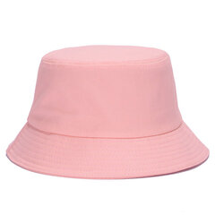 Women Summer Cotton Solid Pattern Bucket Hat Casual Sunshade Breathable Beach Hat