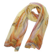 Nature Silk Soft Cosmetology Breathable UV protection Graduated Color Scarf And Shawl