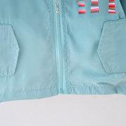Cute Rabbit Print Girls Hooded Jacket Windbreaker For 1-7Years