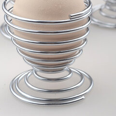Stainless Steel Creative Spiral Spring Egg Tray Egg Holder