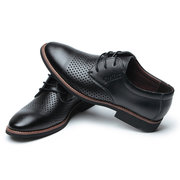 Men Cap Toe Hollow Out Lace Up Business Fromal Dress Shoes