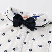 2Pcs Little Gentleman Boys Sets Strampler + Strumpfhosen für 0-24M