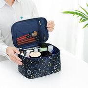 Bolso cosmético cuadrado impreso bolsa de viaje multifuncional