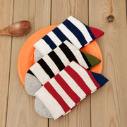 Brief Style Stripes Pattern Soft Comfortable Cotton Tube Sock For Men