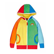 Rainbow Girl Clothes Girl Giacca Kids Coat Kids Spring Capispalla Teenager Capispalla con cappuccio