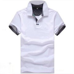 Summer Men's POLO Shirt Turn-down Collar Solid Color Casual Cotton Short Sleeve T-shirt