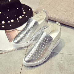Hollow Out Heel Increasing Breathable Shoes