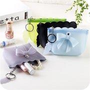 Mini Earphone Box Jewelry Cards Organizer Keys Bowknot Storage Bag Wallet Bag for Girls Ladies