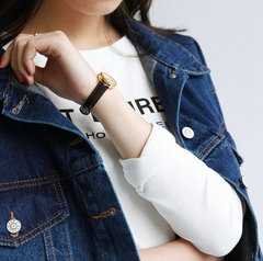 Solid Color Long-sleeved Denim Jacket