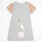 Striped Girls Casual Dresses Kids Clothing Daily School Summer Short Sleeve Dress