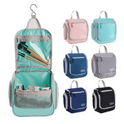 Solid Color Storage Bag Wash Bag Hanging Bag Zipper Type Portable Cosmetics Storage Bag