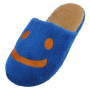 Men Smiling Face Slip On Flat Indoor Home Shoes Slippers