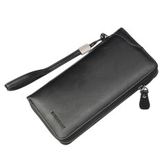 Men Business Casual Multifunction Clutch Bag Zipper Clutch Bag