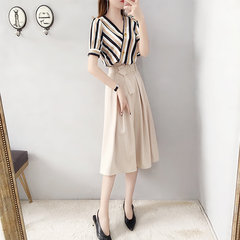 Chiffon Suit Skirt Temperament Two-piece
