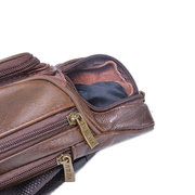 Genuine Leather Large Capacity Outdoor Waist Bag Multi-functional Crossbody Bag Phone Bag