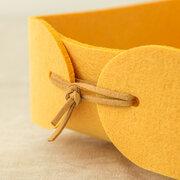 Caja de almacenamiento de fieltro nórdico de 3 colores Caja de canasta de almacenamiento con llave pequeña y encantadora