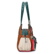 Women Soft Leather Multi-pockets Casual Crossbody Bag
