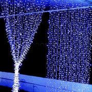 300LEDs نافذة الستار جليد أضواء سلسلة الجنية ضوء حفل زفاف عيد الميلاد ديكور المنزل لنا قابس