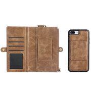 Vintage Multi-funcional Wallet Phone Case para iPhone6 / 6 Plus / 6s / 6s Plus / 7/7 Plus / 8/8 Plus / X