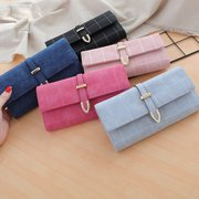 Women Faux Leather Solid Multi-function Long Wallet 8 Card Slots Phone Clutch Bags