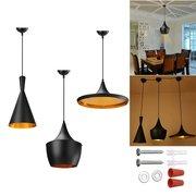Lampe suspendue de plafond de style créatif industriel plafonnier pour café salon