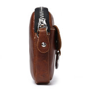 Women Genuine Leather Short Style Soft Key And Coin Crossbody Bag