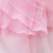 Sequins Bow Toddler Kids Girls Sleeveless Princess Layered Dresses For 2Y-9Y