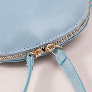 Candy Color PU Leather Mini Shell Shoulder Bag Crossbody Bag Clutch For Girl Women