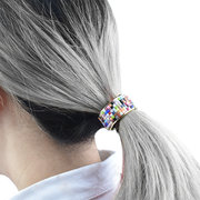 1PC Fashion Elegant Women Metel Hair Tie Elastic Ponytail Holder Candy Color Hair Accessories