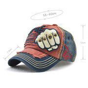 Hombres vendimia Vogue ajustable Denim Patch gorra de béisbol al aire libre Casual Travel Sunshade Sombrero