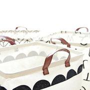 Простой Стиль Водонепроницаемы Льняные Портативные Корзины Хранения Домашней Одежды Игрушка Ванная комната Органайзер