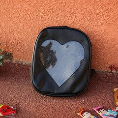Girls Transparent Candy Color Backpack Woman Nylon Shoulder Backpack