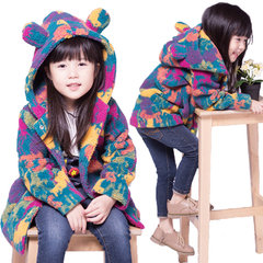 Girls Colorful Thick Hooded Coat Kids Autumn Winter Jacket For 3Y-15Y