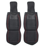 Leather 5-Seats Car Seat Cover Front+Rear Cushion Mat W/Pillow Full Surround Car Seat Cover