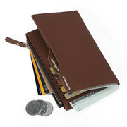 PU Leather Wallet 15 Card Holders Leisure Business Coin Bag For Men