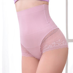 Lace High Waisted Tummy Control Ice Silk Seamless Control Panties