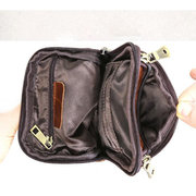 Men Genuine Leather Multi-function Crossbody Bag Waist Bag Shoulder Phone Bag