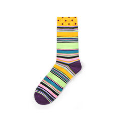 Herren Damen Classic Geometric Plaid Striped Cotton Tube Socken Lässige Kuschelsocken