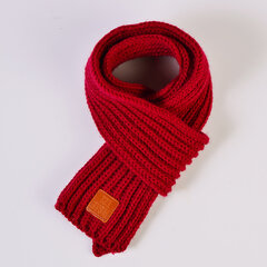Kids Girls Boys Winter Cute Solid Color Knitted Scarves Casual Neck Warm Scarf For 0-5 Years