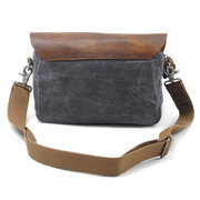 Ekphero Canvas Casual Vera Pelle Crossbody Borsa Shoulder Borsa