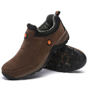 Men Synthetic Wearable Slip On Outdoor Plush Lining Walking Shoes