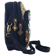 National Style 5.5 Inch Phone Bags Embroidery Flower Crossbody Bags For iphone Samsung Xiaomi Sony