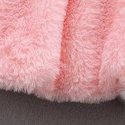 لطيف الطفل الرضيع الفتيات الفراء شتاء دافئ معطف عباءة سترة سميكة مقنعين الملابس لمدة 6-36M