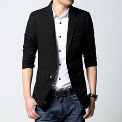 Casual Slim Fit Patchwork Plus Size Negócios Blazer Suit for Men