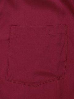 Robe chemise longue unie à manches longues avec col montant pour femme
