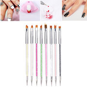 1Pc Double-sided Professional Crystal Nails Brush Nail Art Painting Pen Dotting Gel Tools